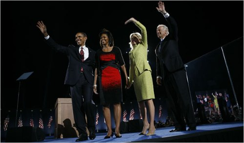 The Obamas and Bidens/Damon Winter-NY Times
