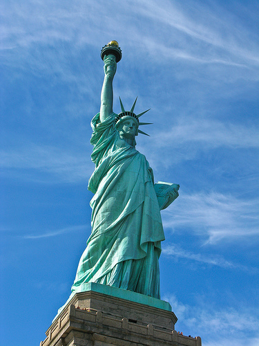 Photo of Statue of Liberty courtesy Flickr Creative Commons user Voxefe